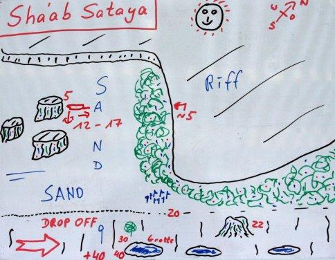 Tauchplatzkarte Shaab Sataya
